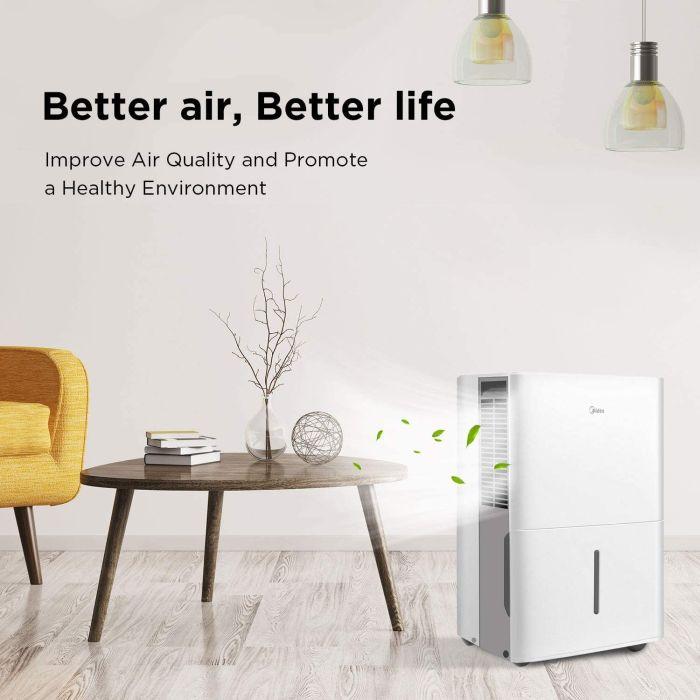 MIDEA Dehumidifier with Reusable Air Filter