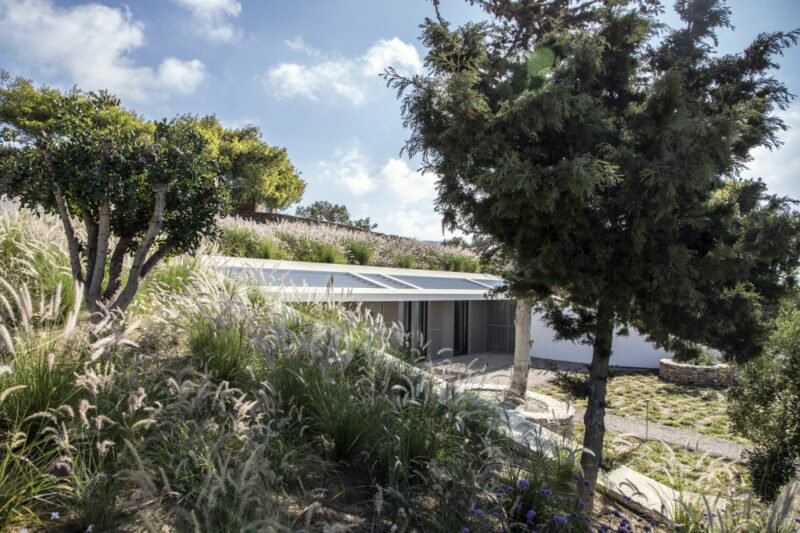 Beautiful Summer House Greece Half Hidden Within A Slope