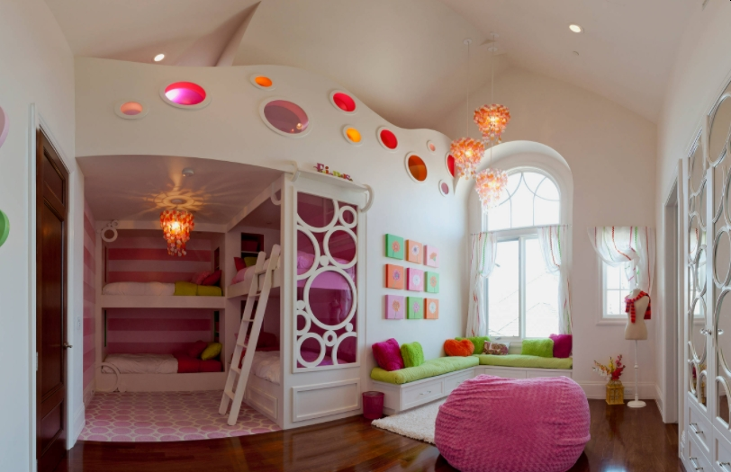 Transitional Pink Room