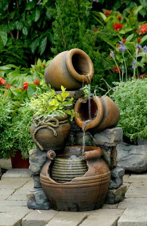 Soothing Outdoor Fountain for Your Backyard Without Breaking The Bank