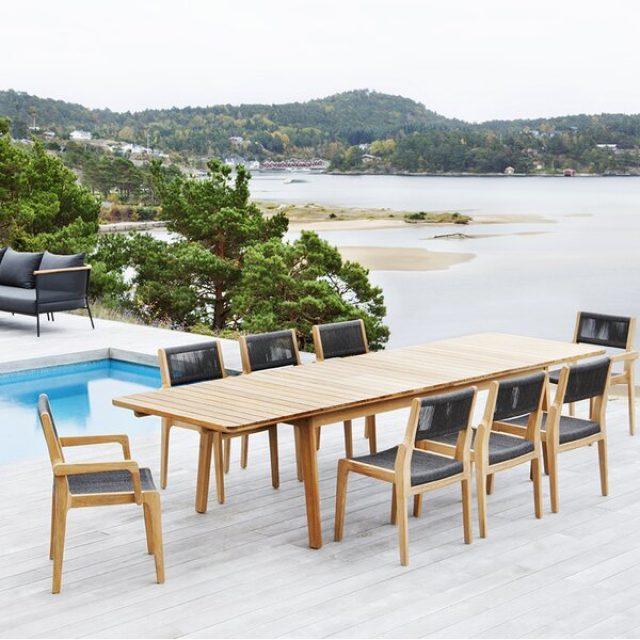 Skagen 9 - Piece Extendable Teak Solid Wood Dining Set