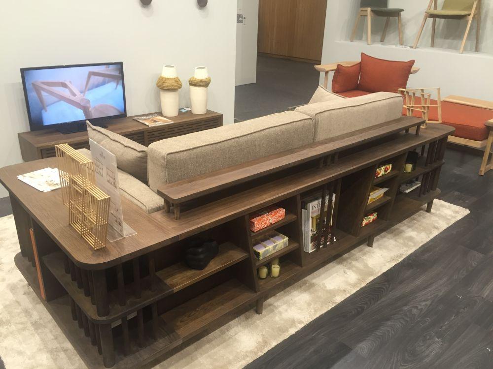 Try a Sofa With Wrap-Around Shelves