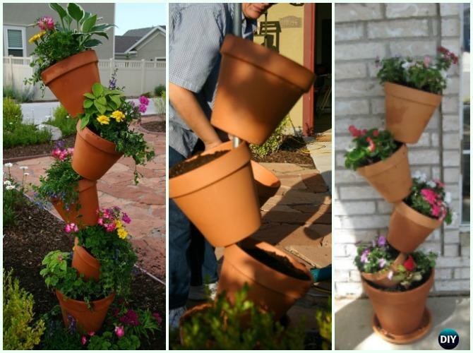 planter box ideas Tipsy Vertical Pot Planter