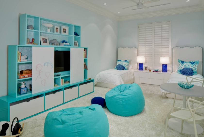 Blue-Themed Kids Room