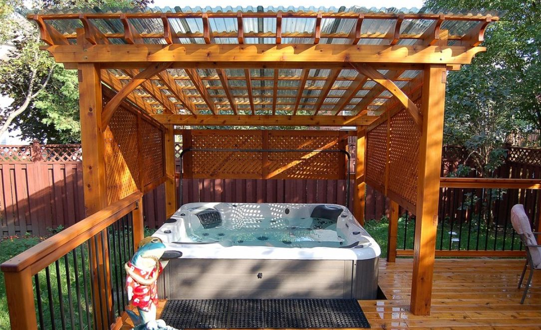 Image of: Inspiring Ideas For Beautiful Hot Tub Enclosures And Decors