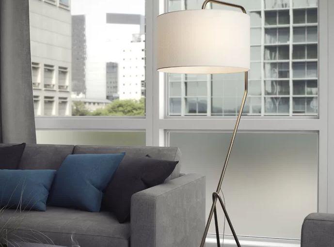 "Michele 61"" Tripod Mid-Century Floor Lamp"