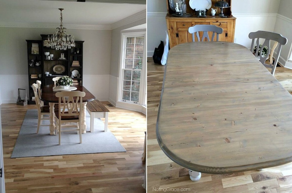 Farmhouse table makeover that embraces imperfections