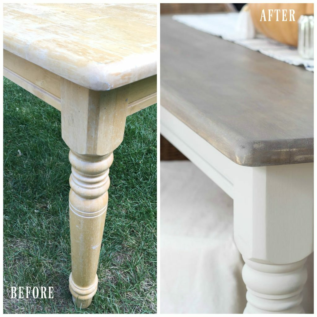 A super simple dining table makeover