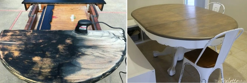 How to refinish a painted table