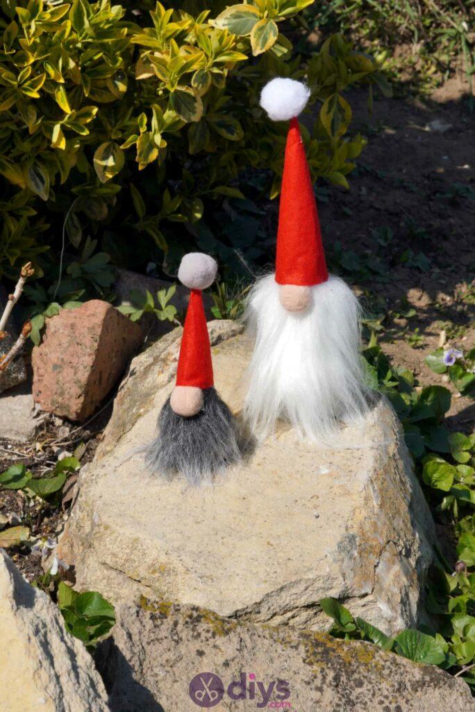 Adorable garden gnomes with fluffy beards