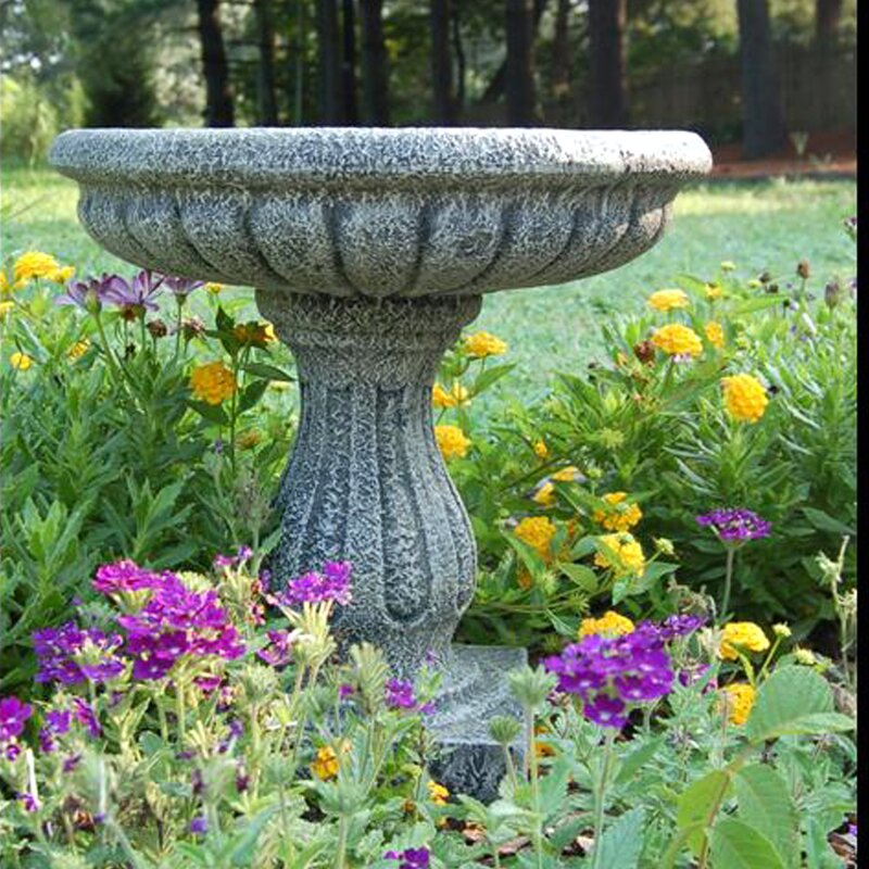 The Best Way To Attract Backyard Birds Is To Install Bird Baths