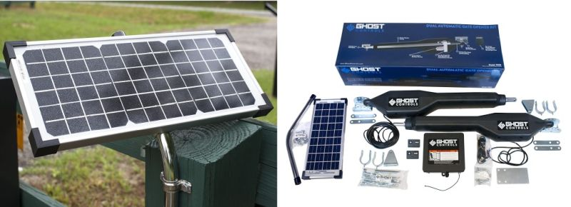 Ghost Controls TDS2XP Heavy-Duty Solar Dual Automatic Gate Opener Kit for Swing Gates Up to 20 Feet