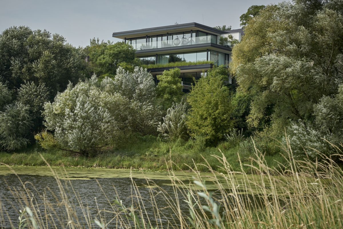 This section of the house rises above the river valley and the tree canopies and offers a really great view