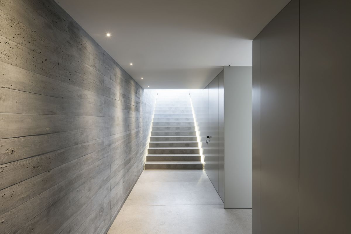 Light, both natural and artificial, plays a very important role in the design of this house