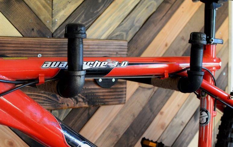 Industrial Pipe Wall Mounted Bike Rack