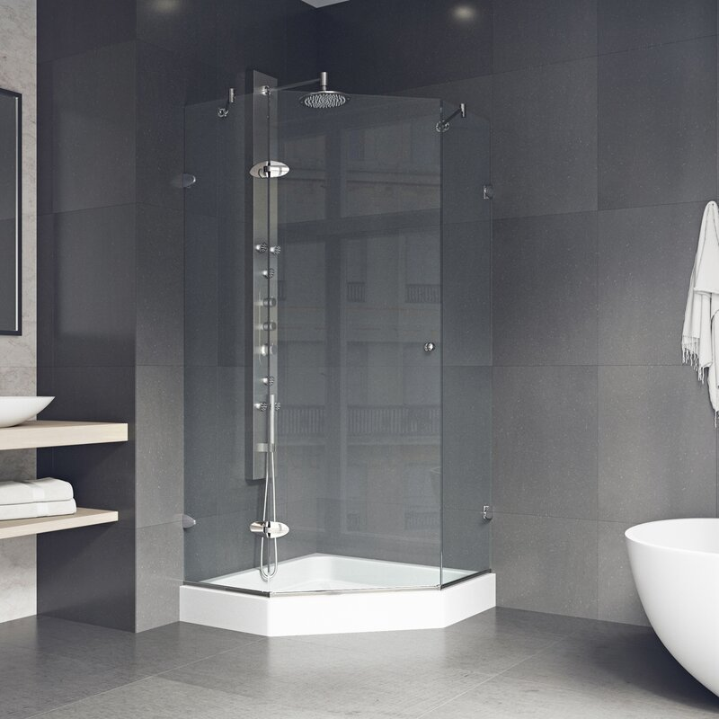 Remodel Your Bathroom With A Practical Shower Stall Kit That Fit In Any Corner