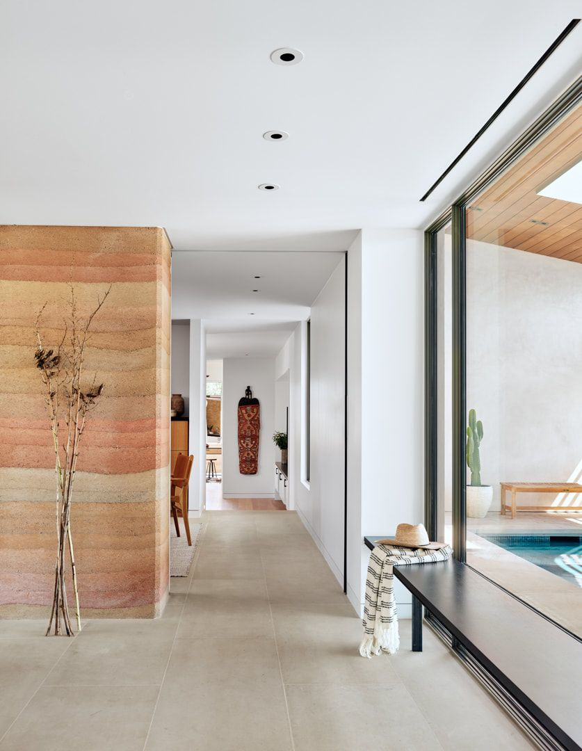 The interior spaces are well connected to the outdoors in a very natural way