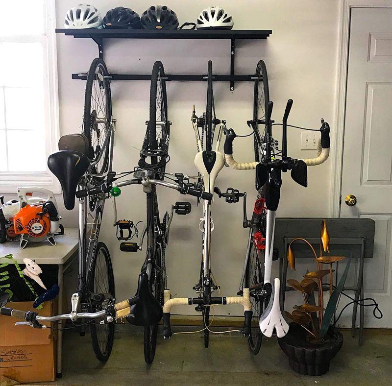 StoreYourBoard Bike Rack + Storage Shelf