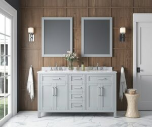 Choose A Vanity Set with Mirror To Add A dose Of Luxury To Bathroom Design Scheme