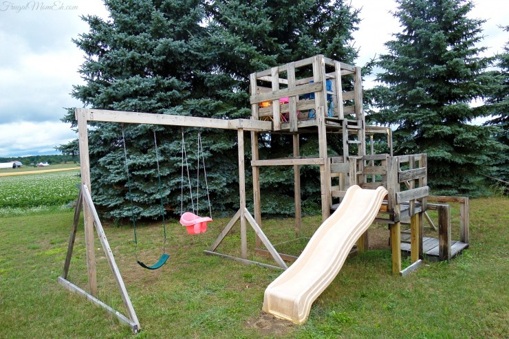An outdoor playground for the kids
