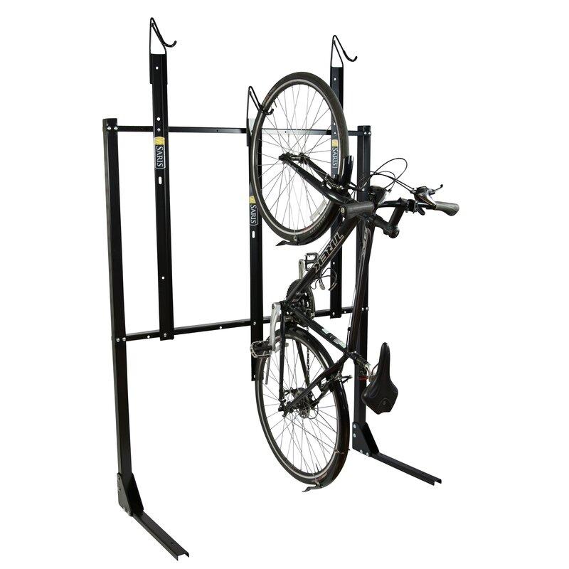 Vertical Single Sided Anchored Bike Rack