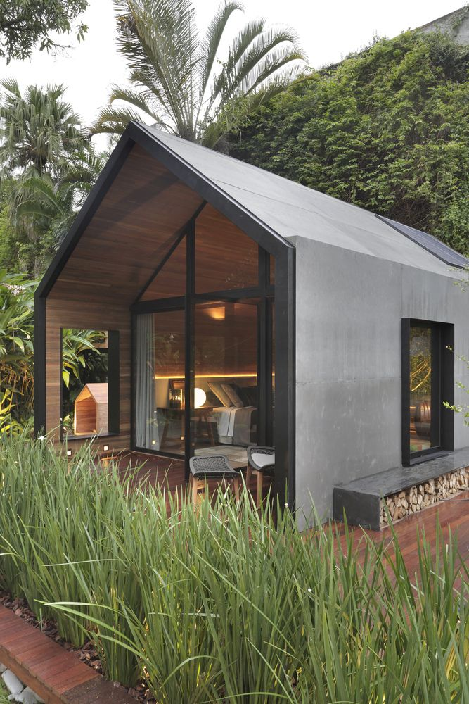 Design-wise, this resembles a typical house or a cabin which creates a sense of familiarity and comfort