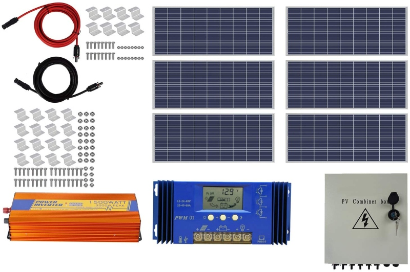 Complete Off-Grid Solar System Kit