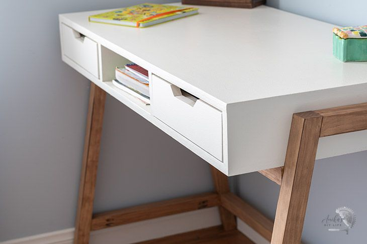 A-frame desk with built-in storage