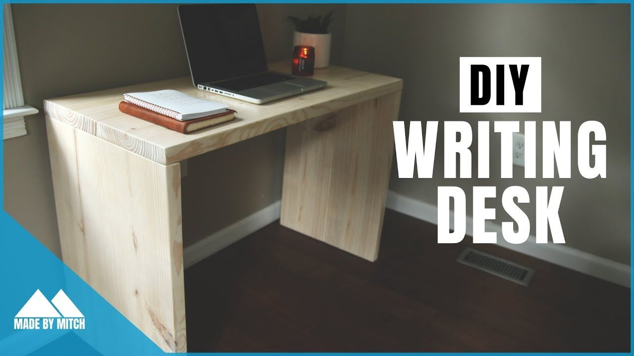 Simple writing desk with a natural wood finish