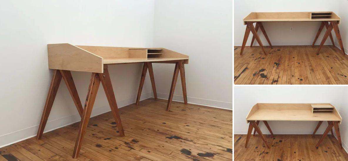 Elegant campaign desk with a border