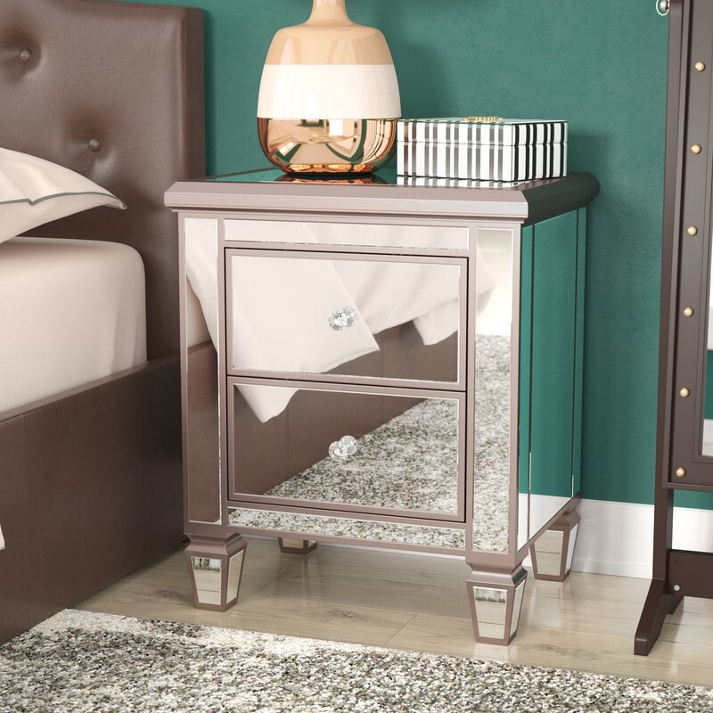 Make Your Bedroom Sparkle With These Cool Mirrored Nightstand Ideas