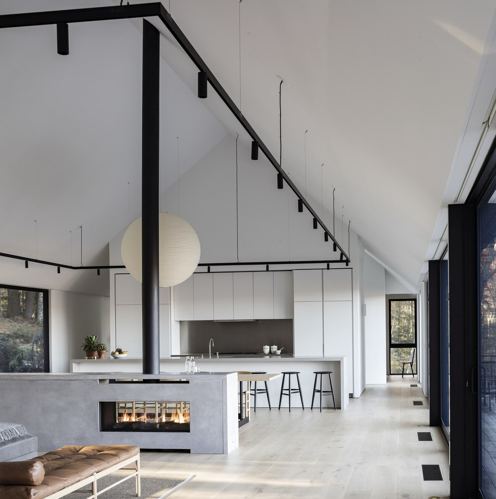The interior is simple, modern and color neutral which puts more emphasis on the views