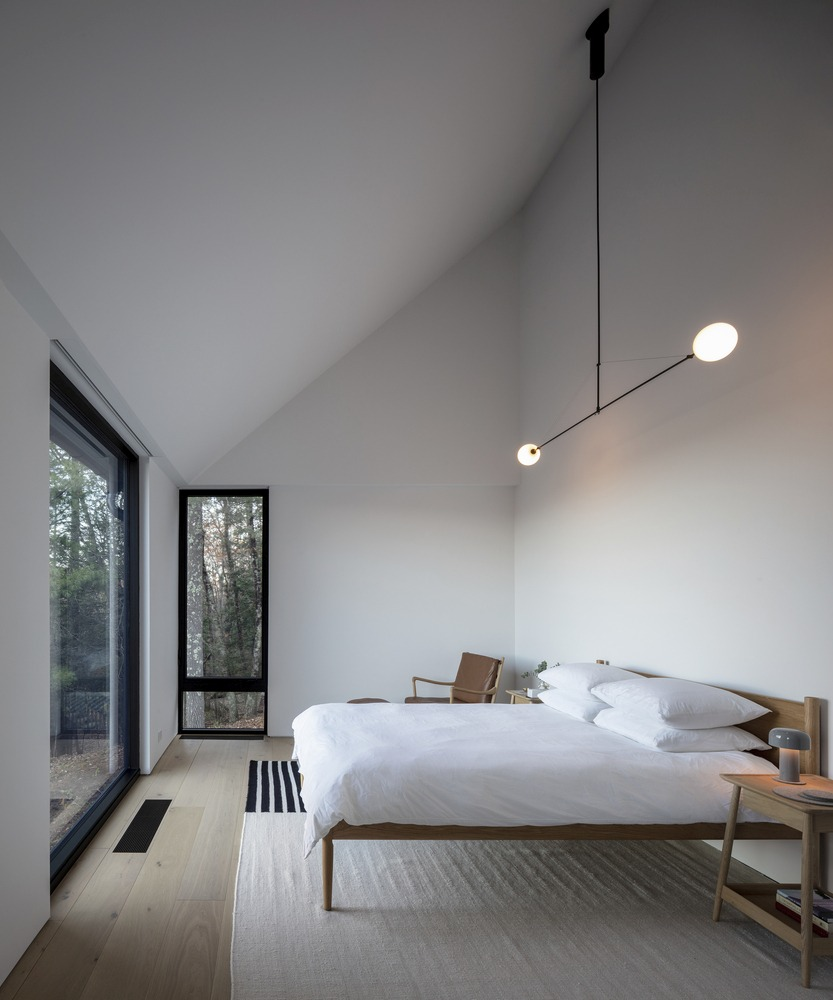 The master bedroom is on the opposite side, giving the owners and their guests maximum privacy