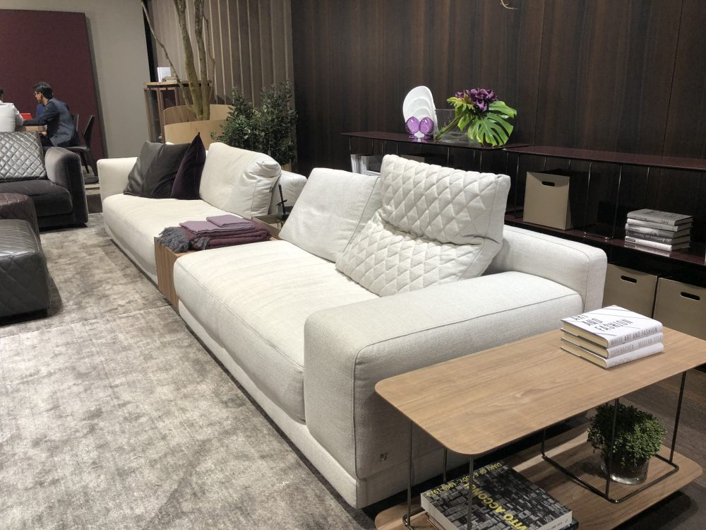There are lots of different ways to make sofa and table combos, such as this built-in type of setup