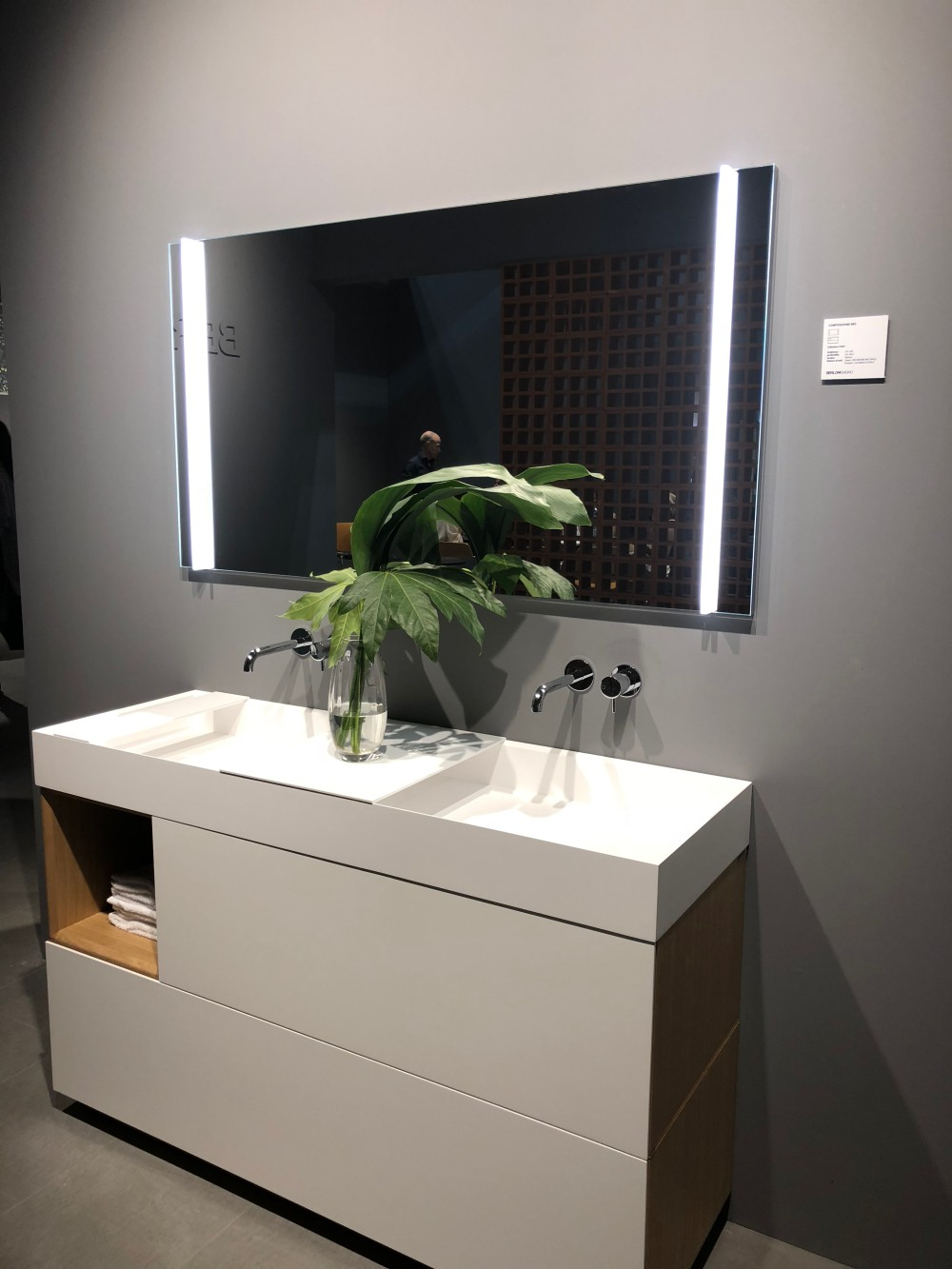 Double sink vanities are typically preferred for master bathrooms and are usually fairly large in size