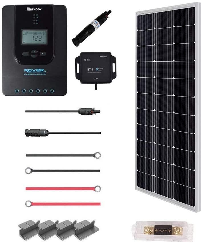 Renogy 100 Watt 12 Volt Off Grid Solar Premium Kit