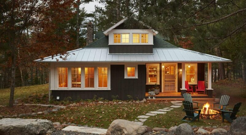 Rustic North Woods Wisconsin Cabin Is a Perfect Family Getaway