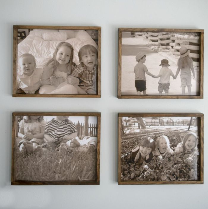 Rustic wood frames for family pictures