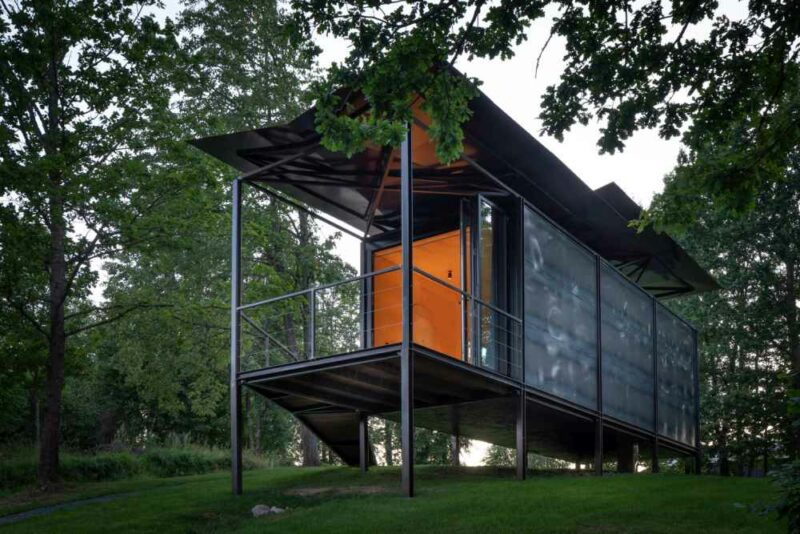 The First Of Many Beautiful Modular Cabins With Floating Roofs