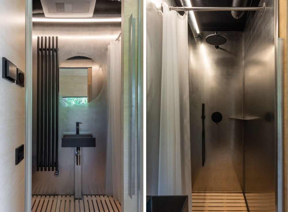 All of the basic functions including the bathrooms fit within 23 square meters of space