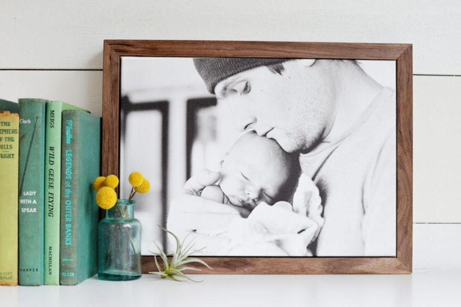 Stylish frame for canvas photos