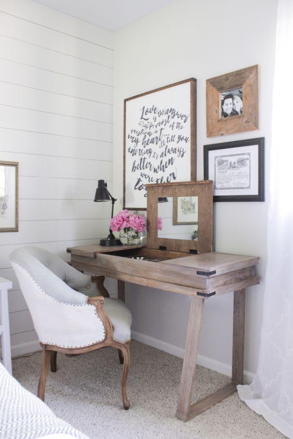 Vanity desk with hidden storage