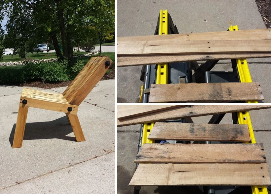Craft a comfortable reclining chair for the outdoor areas