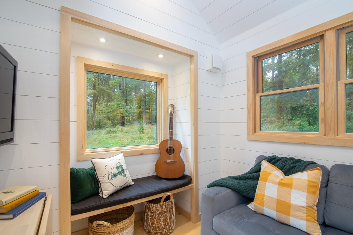 The cozy window nook is an upgrade which can be added to the base model of the house