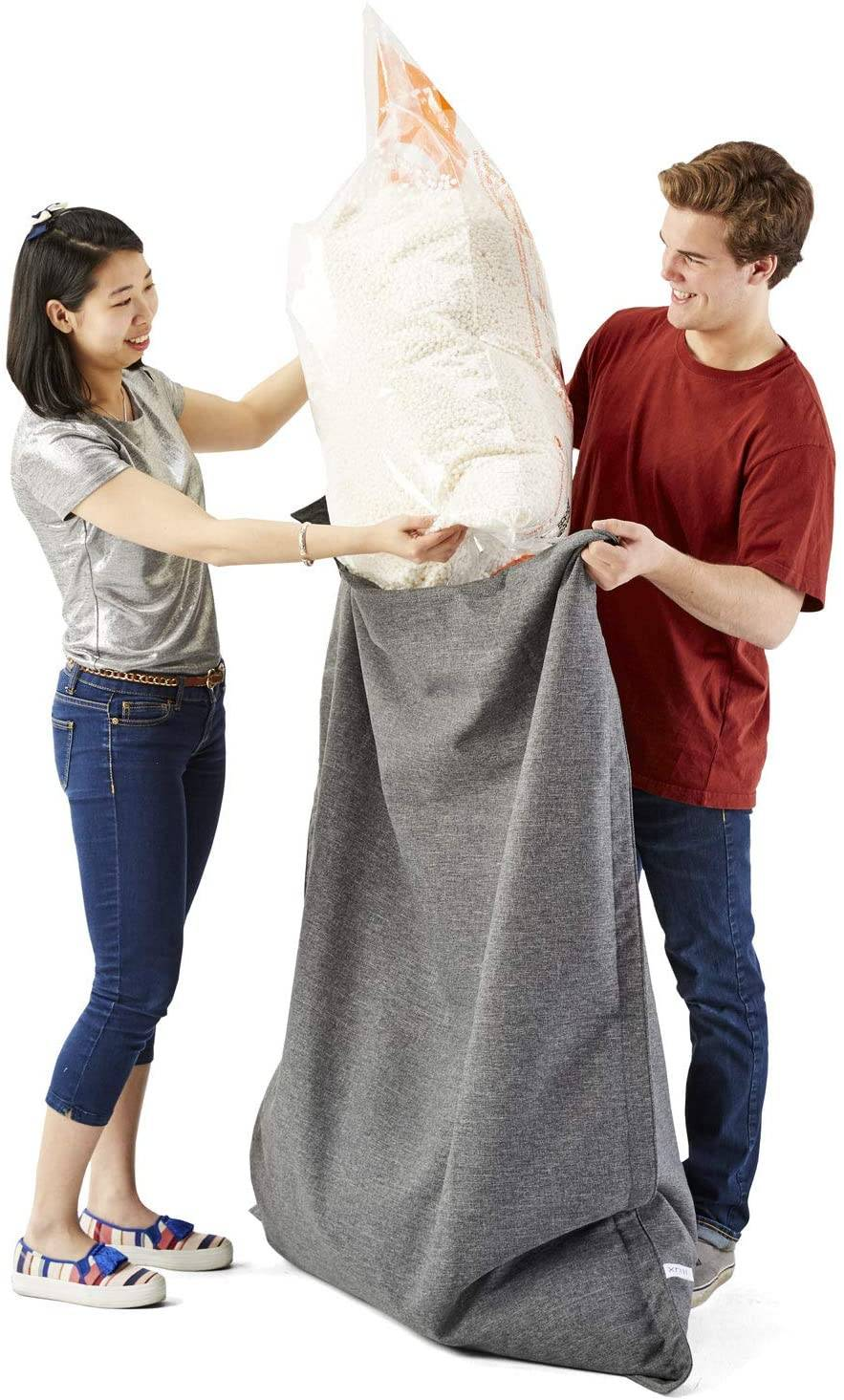 Big Joe Comfort Research Megahh (UltimaX) Bean Bags Refill, 100 L, White