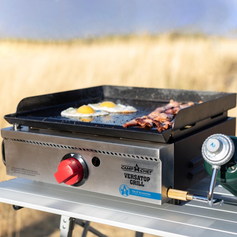 Camp Chef VersaTop 250 Single Burner Portable Flat Top Propane Gas Grill