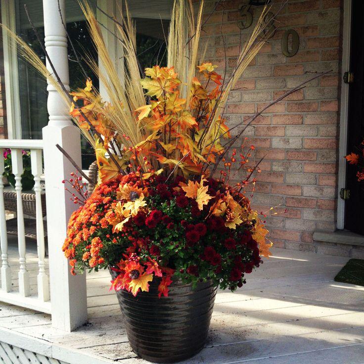 Fall Porch Planters