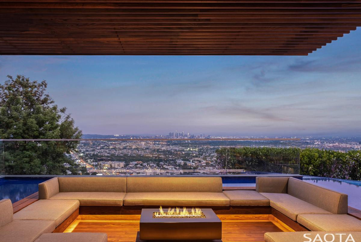 This space has one of the best views over the city of Los Angeles