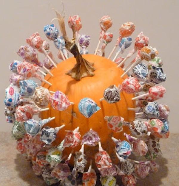 Lollipop Holder Pumpkin