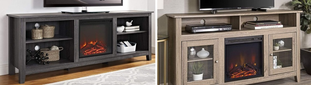 TV Consoles With Built-in Electric Fireplaces